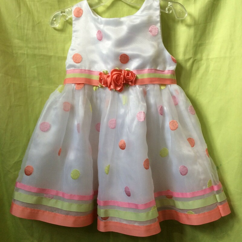 Sweetheart Rose, White, Size: 3T