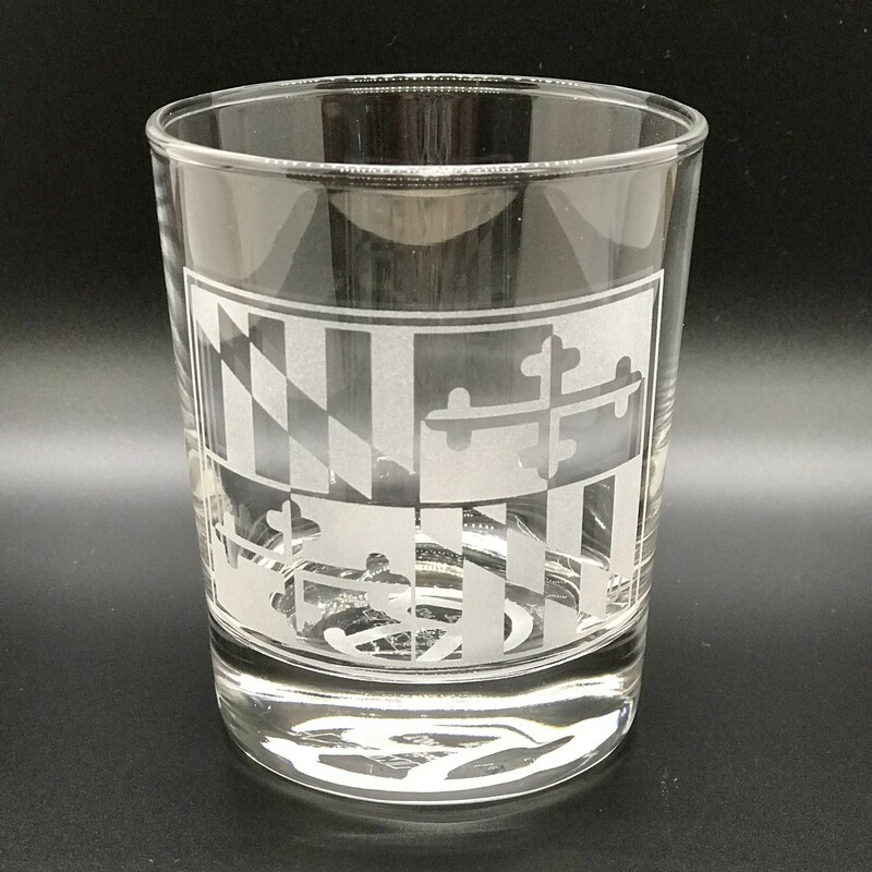 MD Flag Whiskey Glass