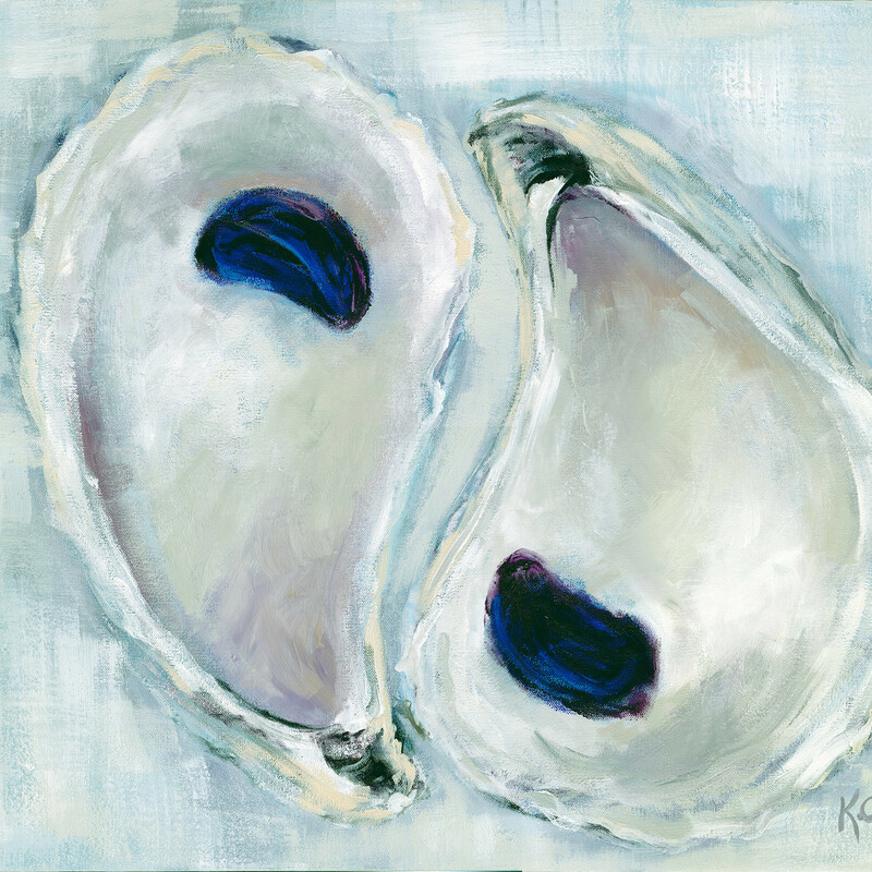 Plum Oysters Print