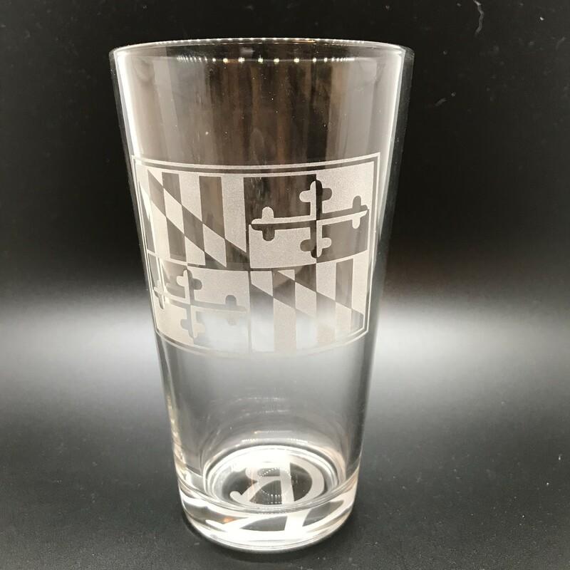 MD Flag Pint Glass