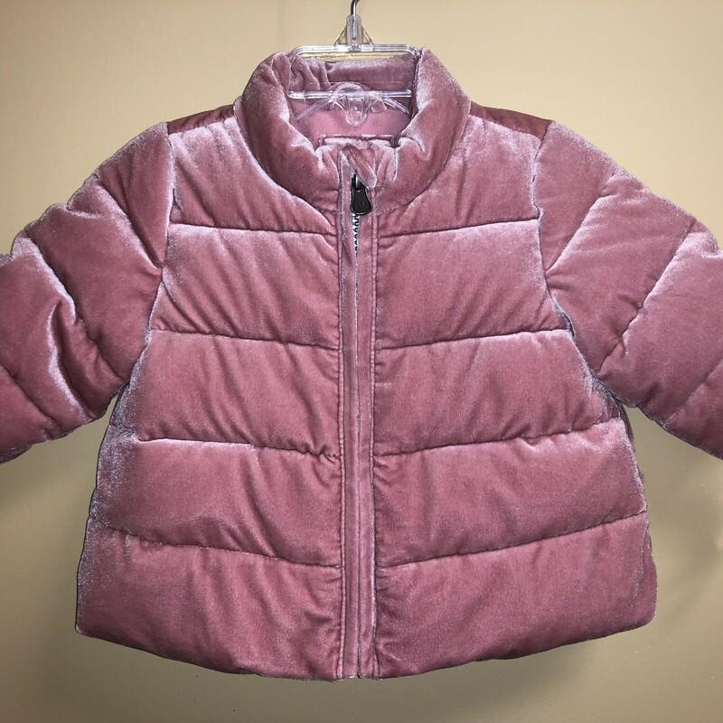 Gap Velvet Puffer Coat