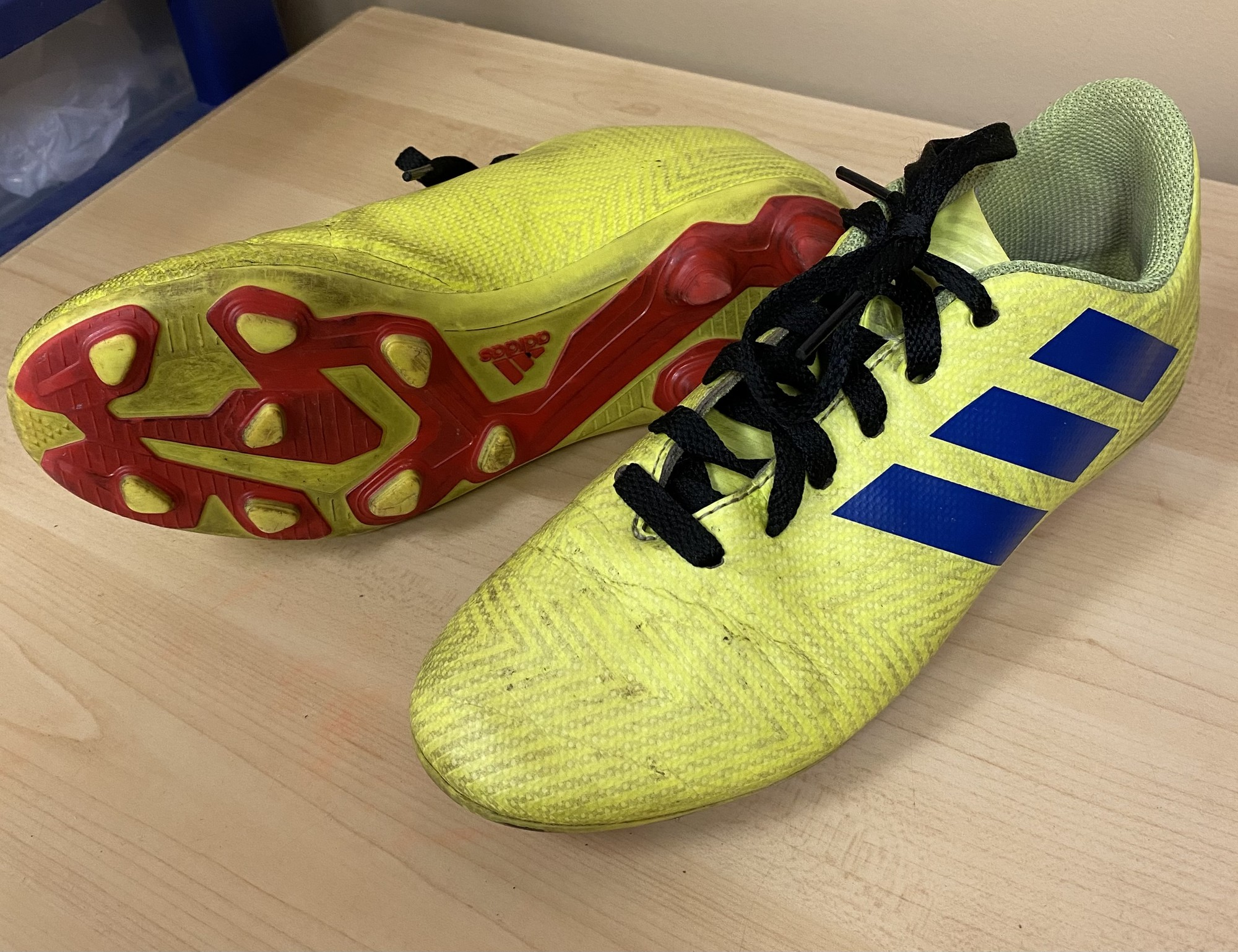Adidas Cleats, Yellow, Size: 3Y