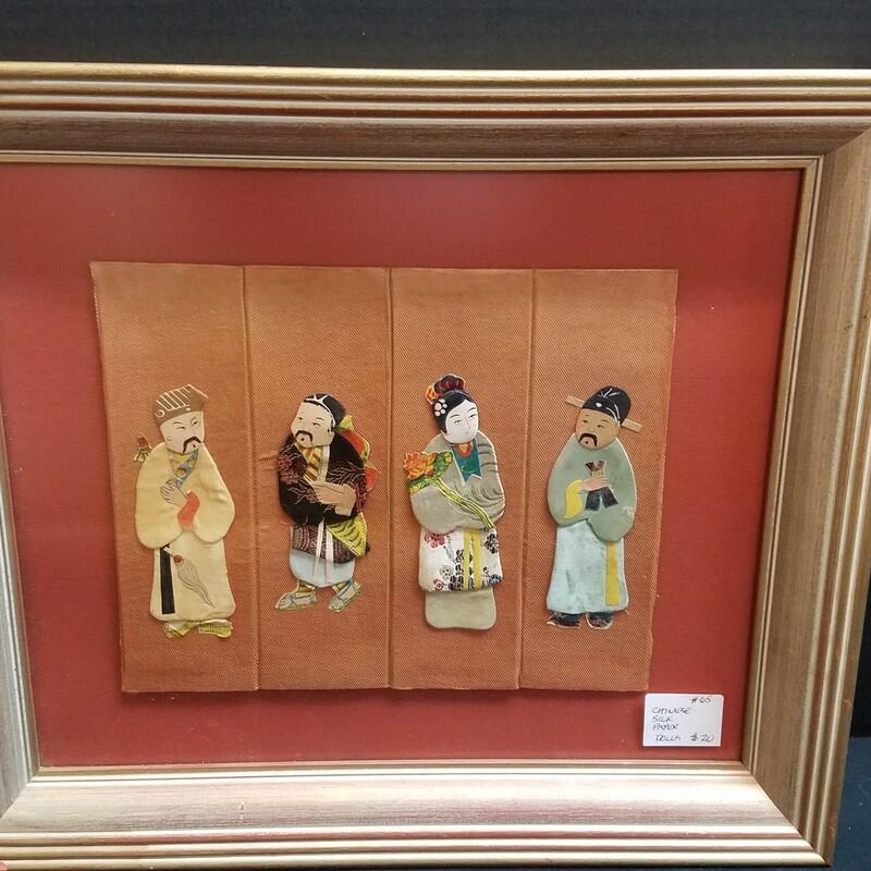 15 x 13 frame silk paper dolls