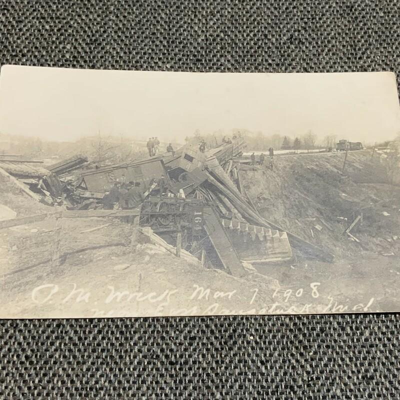 Train Wreck Postcard