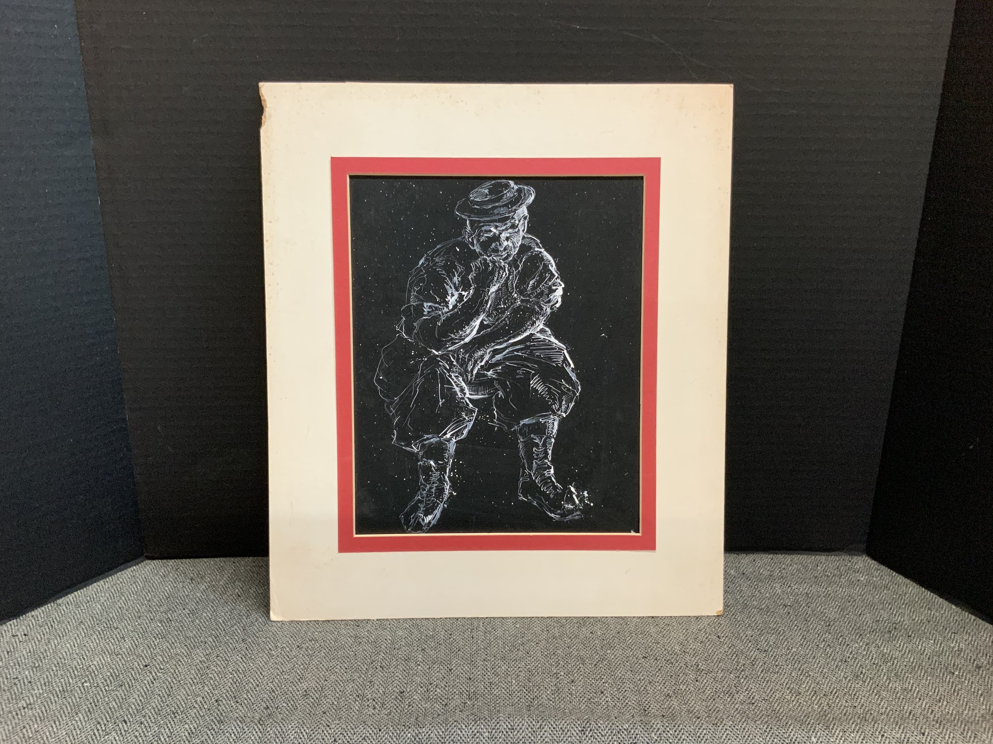 This piece comes with a period mat that measures 13x15.5 and has an opening of 8.5x10.5.