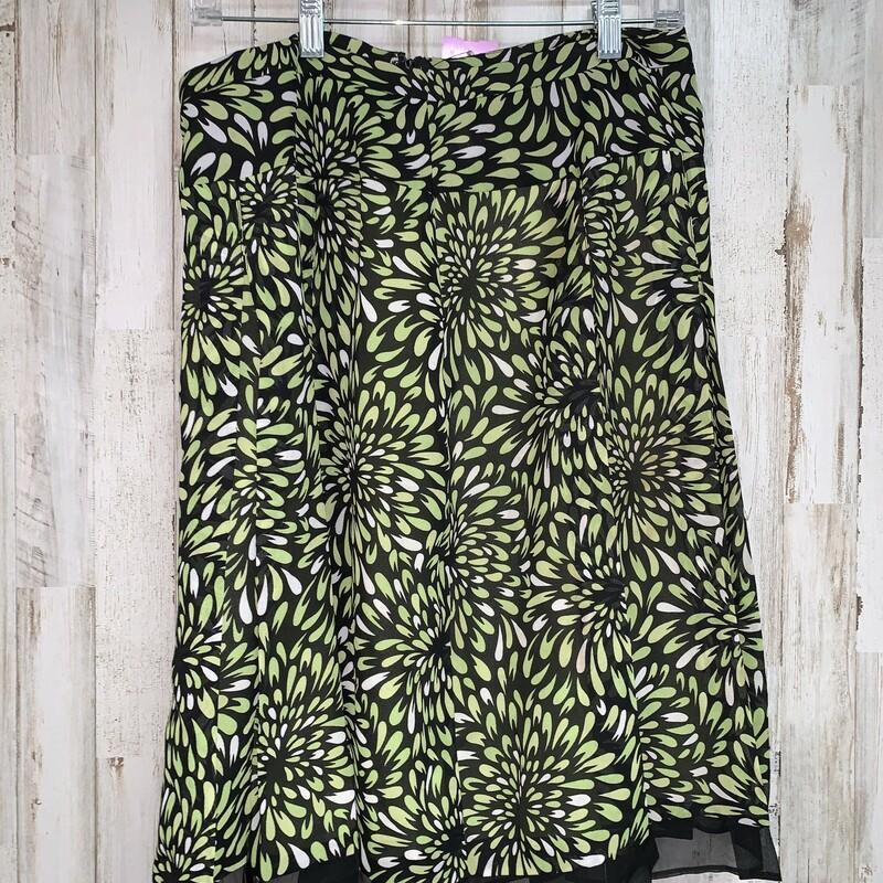 Green Floral Skirt 10