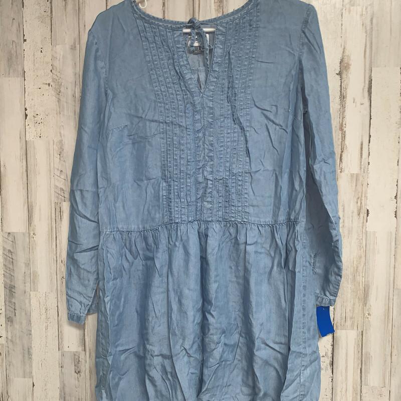 S Denim Dress, Blue, Size: Ladies S