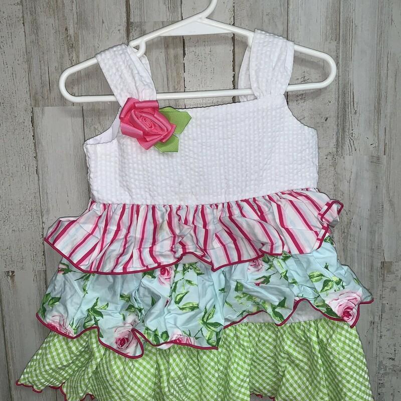 2t Floral Ruffle Dress