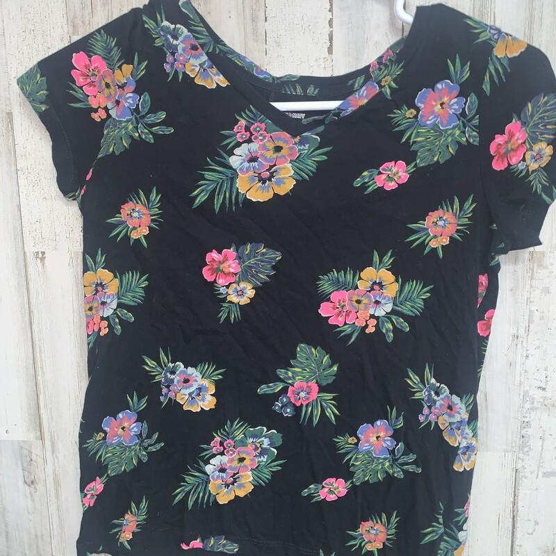 L Black Plant Tee, Black, Size: Ladies L