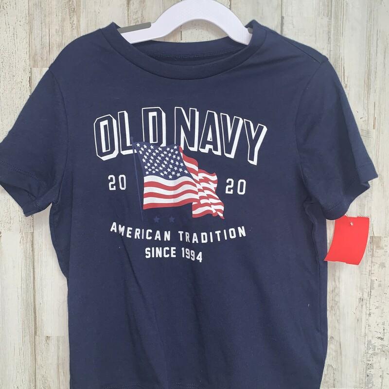 5T Navy Flag Tee, Navy, Size: Boy 5-8