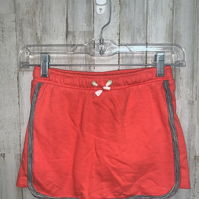 7/8 Red/coral Cotton Skir, Red, Size: Girl 7/8