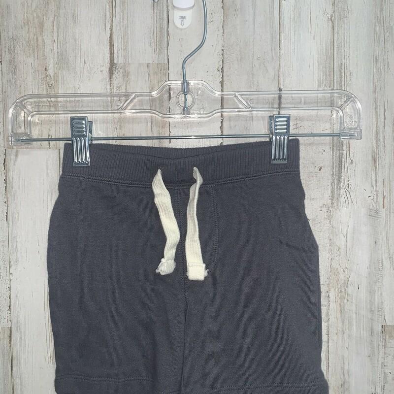 18-24m Grey Cotton Shorts, Grey, Size: Girl 18-24