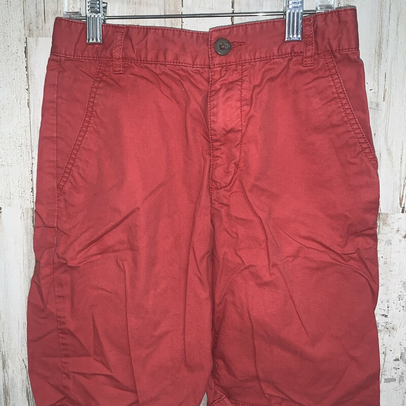 Sz 12 Brick Red Shorts, Red, Size: Boy 10 Up