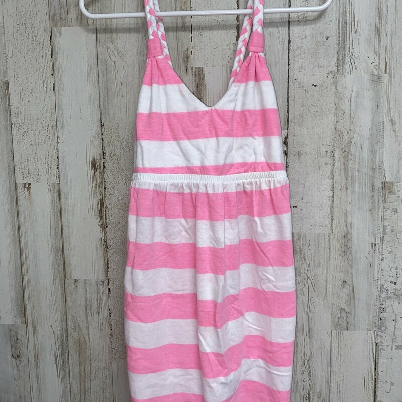 8 Pink Striped Top, Pink, Size: Girl 7/8