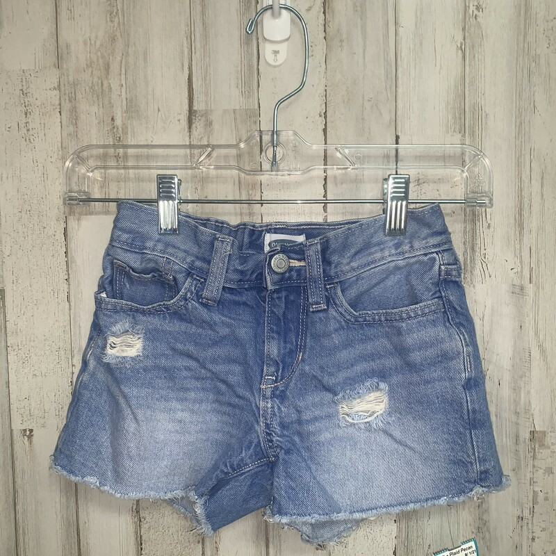 8 Blue Distressed Shorts, Blue, Size: Girl 7/8