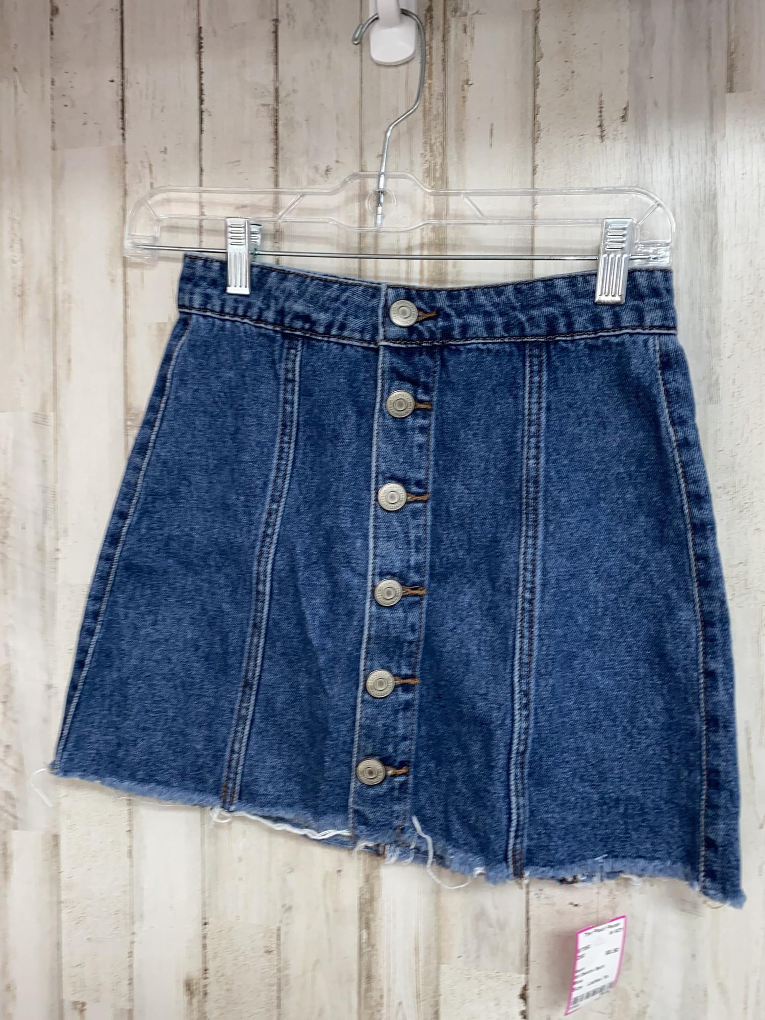 00 Denim Skirt, Blue, Size: Ladies Xs