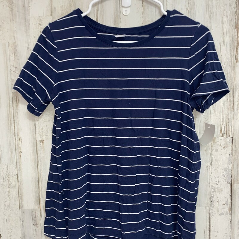 S Navy Striped Top, Navy, Size: Ladies S