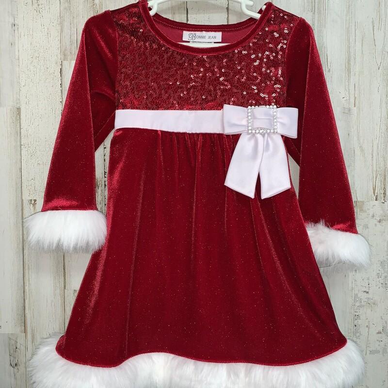 2T Red Santa Suit Dress