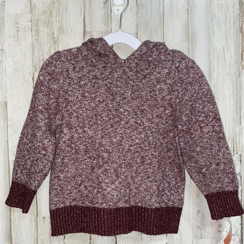 3T Maroon Hooded Sweater, Maroon, Size: Boy 2T-4T