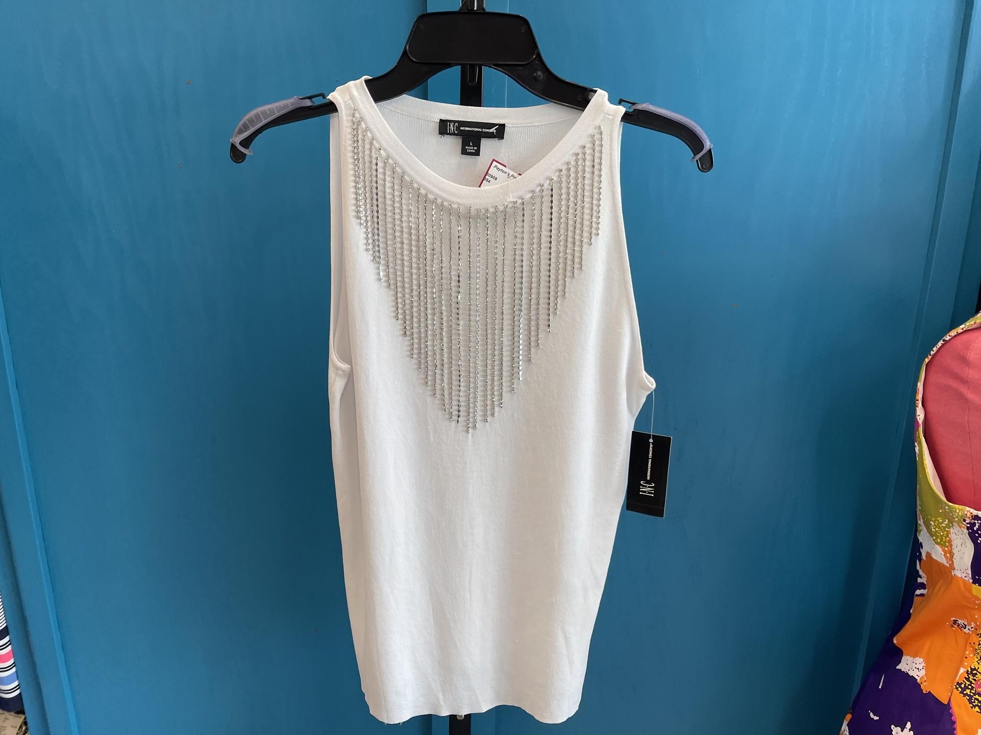 INC, White, Size: L