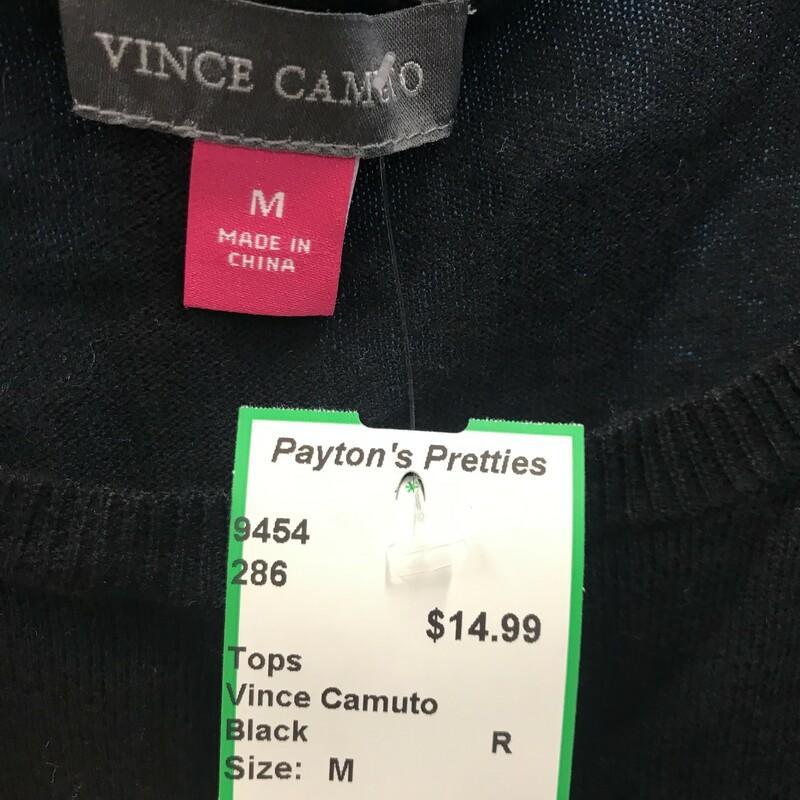 Vince Camuto, Black, Size: M