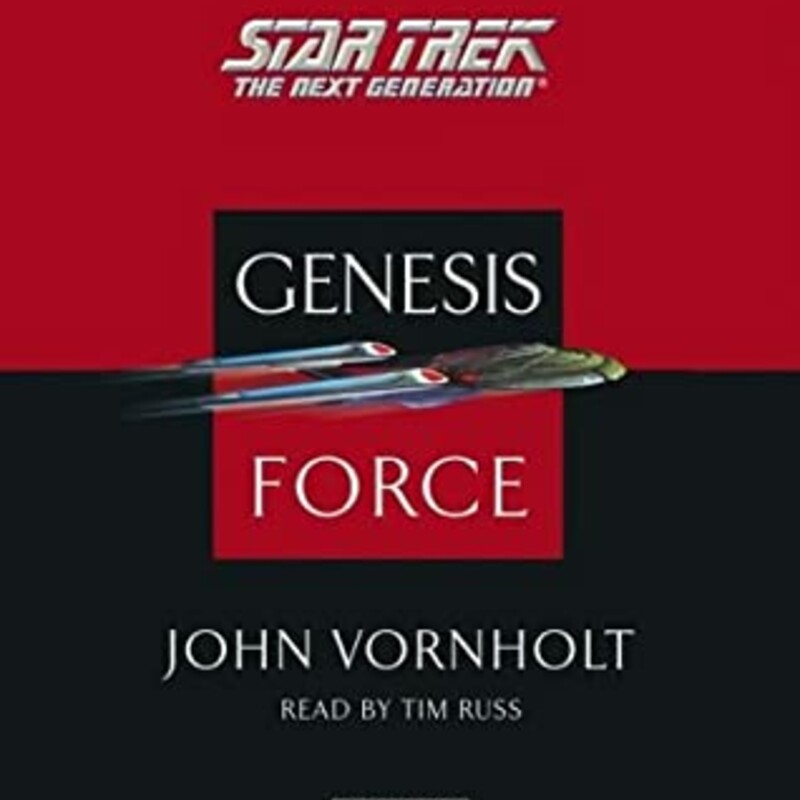 """Audio Genesis Force (Star Trek: The Next Generation) by John Vornholt  \""""As a matter of cosmic history, it has always been easier to destroy than to create.\"""" -- Spock, \""""STAR TREK II: The Wrath of Khan\"""" Following on the success and popularity of \""""Genesis Wave: \"""" Books One, Two, and Three, John Vornholt pulls together a group of \""""STAR TREK(R)\"""" heroes with a mission unlike any other  The passing of the Genesis Wave has damaged hundreds of worlds in the newly named \""""Genesis Sector,\"""" and chaos reigns throughout that area of space. Each world has been changed in different ways, and a group of extraordinary men and women -- some old friends, some new faces -- have been assigned the job of getting the devastated planets back on their feet.  The first job: To resettle an entire displaced alien race on its altered home planet, where the dead come back to life, microbes have reached gigantic size, and the new ecology taking over the world is one not fit for man or genetically altered beast..."""