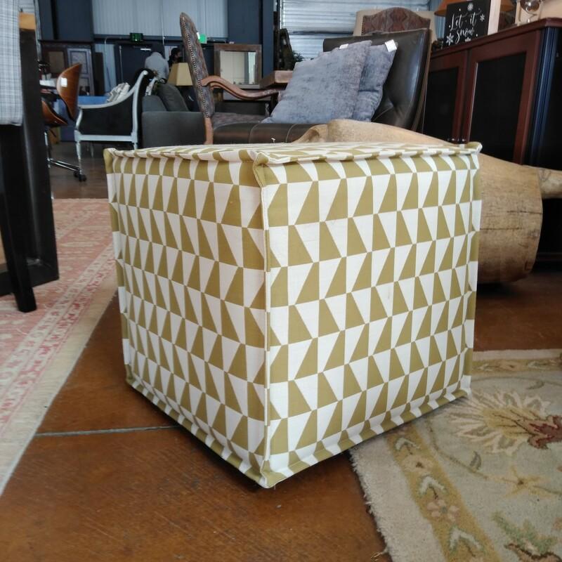 Upholstered Pouf Ottoman