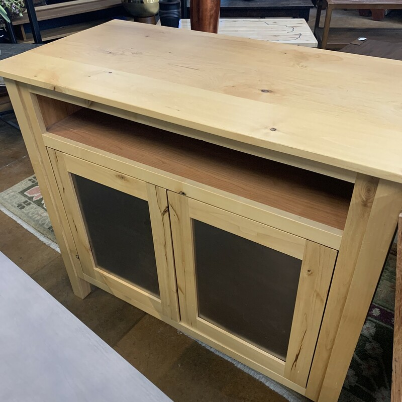 Pine Console With Doors