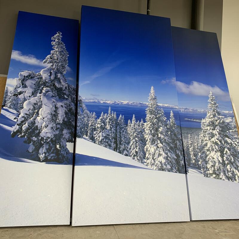 Snowy Lake Tahoe/Triptych