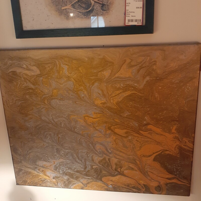 Real Gold/Copper Abstract