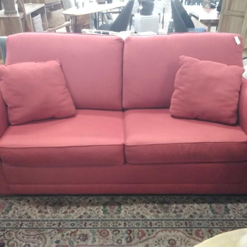 La-Z-Boy Sleeper Sofa, Red 69Lx35Wx36H