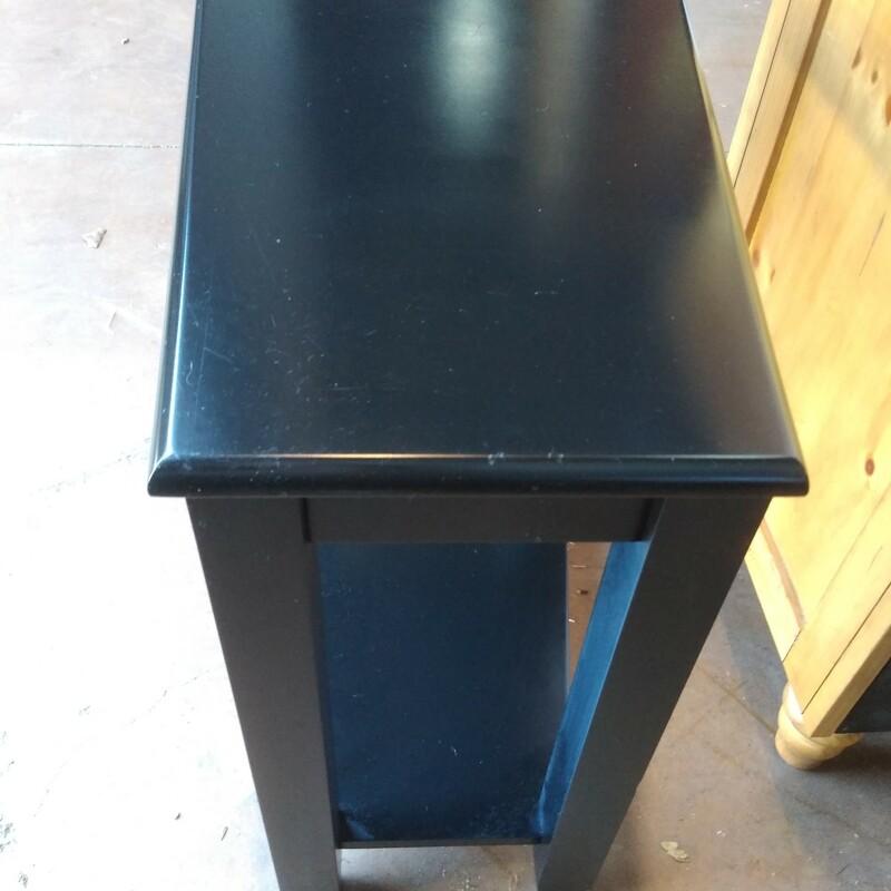 Black Angular Side Table