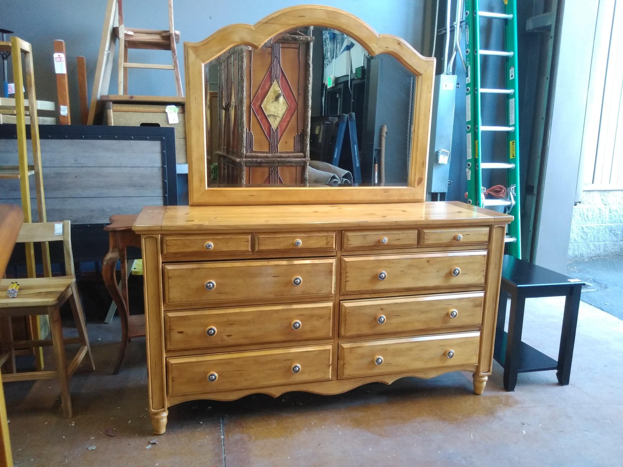 Aspenhome Dresser & Mirror<br /> 21Lx70Wx78H