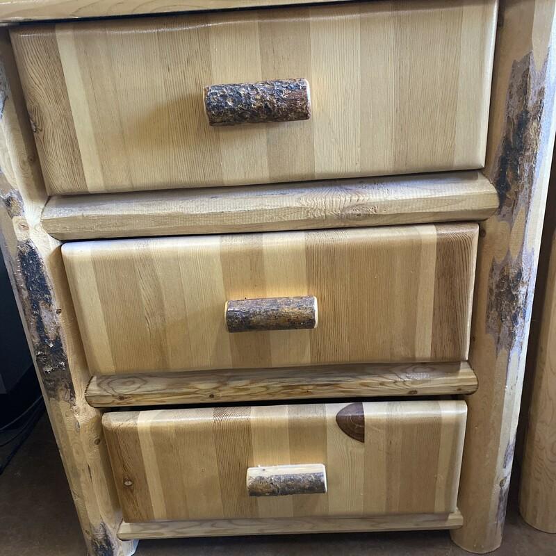 3 Drawer Lodgepole Pine 21Lx34Wx37H