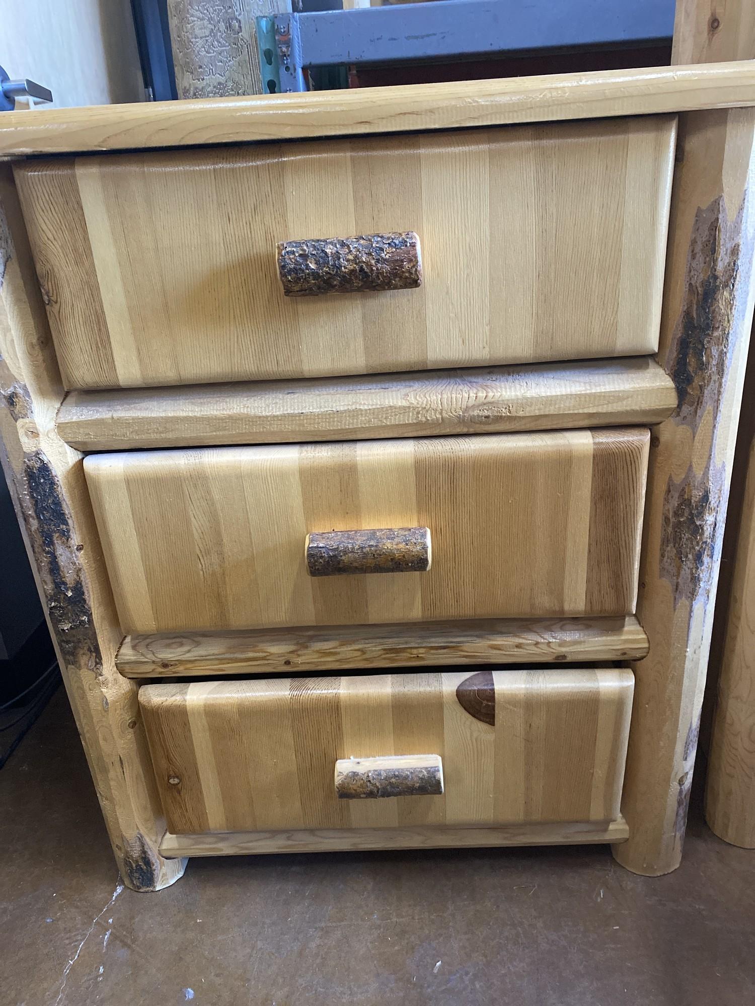 3 Drawer Lodgepole Pine<br /> 21Lx34Wx37H