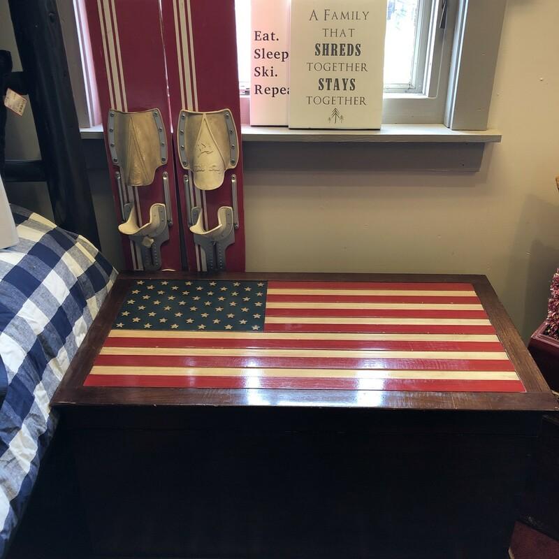 American Flag Wood Storag