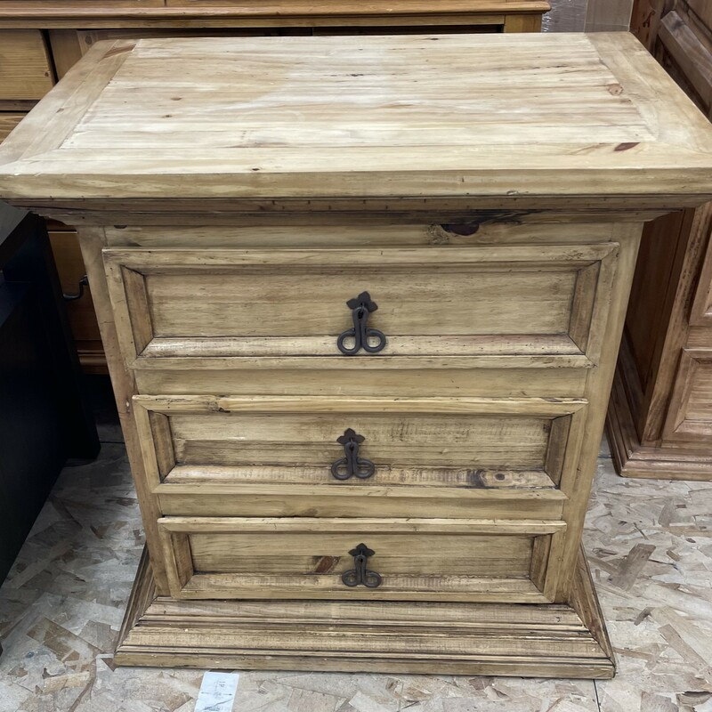 3 Drawer Pine Dresser  Size: 27.5W  X  29.5H x 17.5L