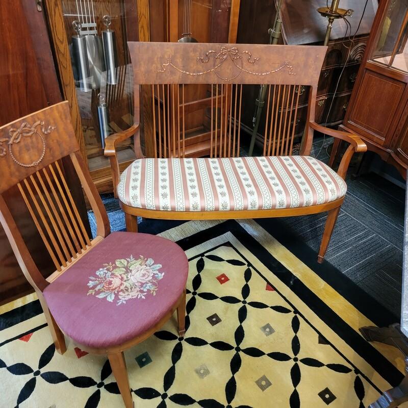 Antique Settee & Chair Ci