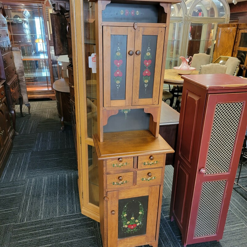 Narrow Country Cabinet
