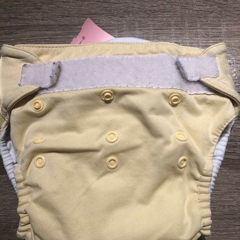 Bum Genius Reusable DiapeR, Yellow, Size: Used Liner Included