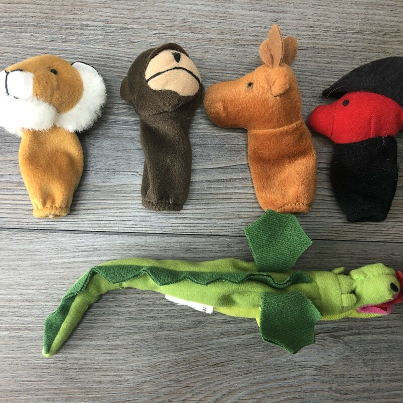 Finger Puppets, Multi, Size: 5pcs