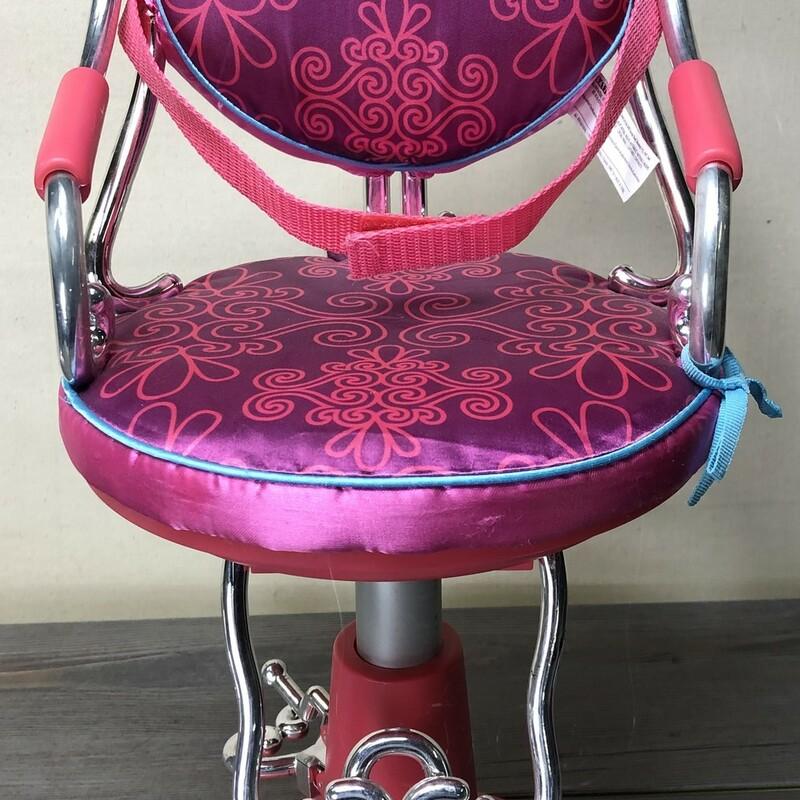 OG Salon Chair, Pink, Size: 18inch Doll