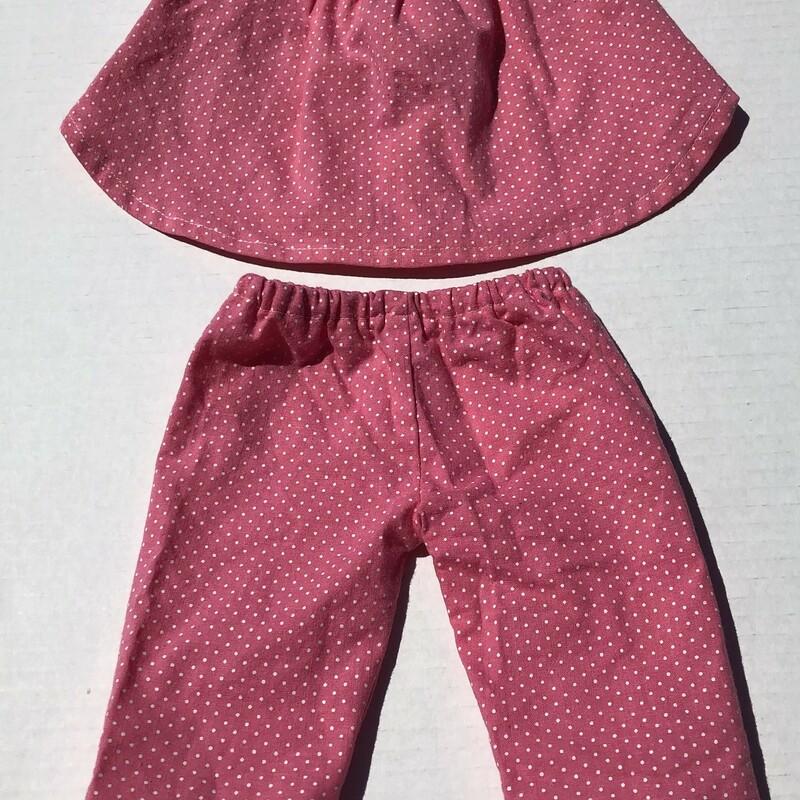 Doll Clothing 2pcs, Polka, Size: 18 Inch doll