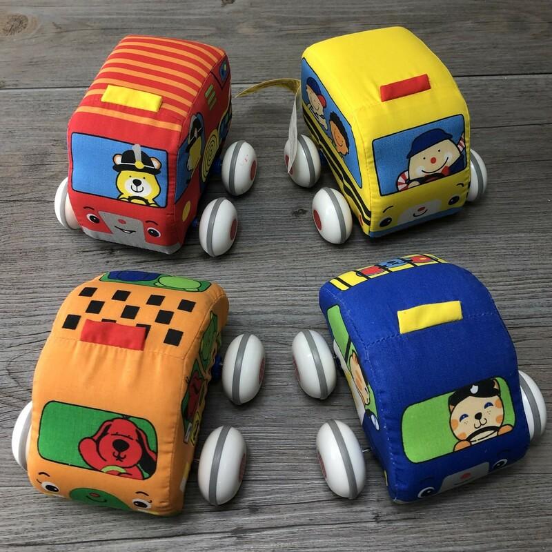 M&D Pull Back Vehicles, Multi, Size: 4pcs
