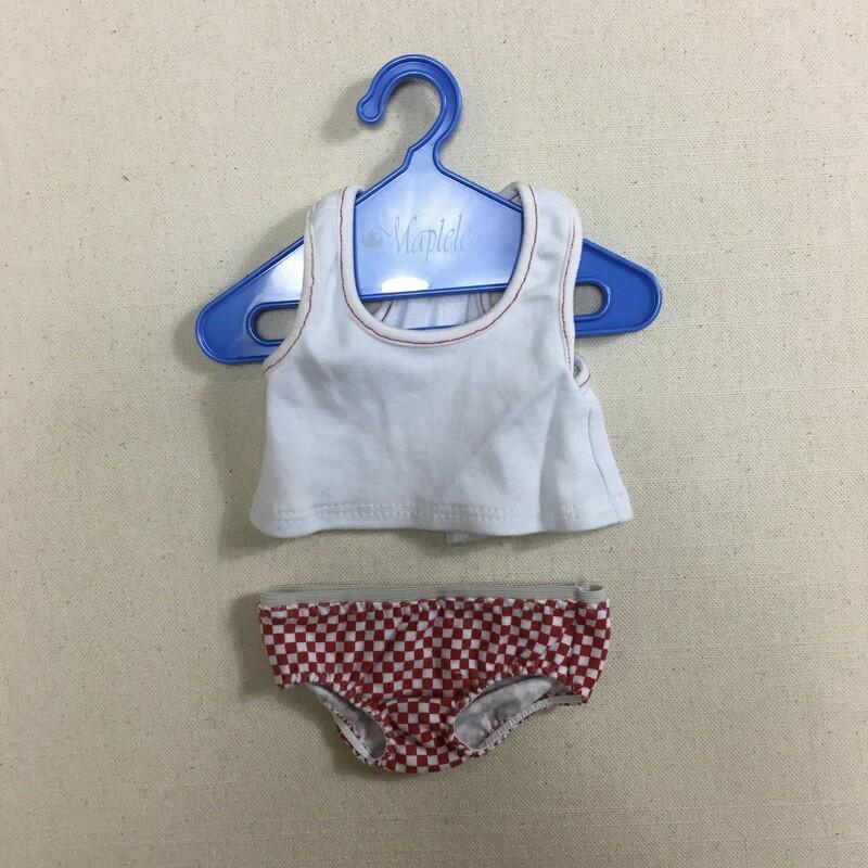 Maplelea 3 Pce Underwear, White, Size: 18inch