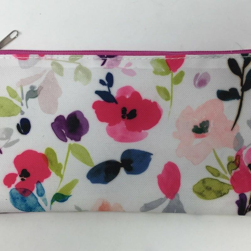 Zip Up Floral Makeup Bag, Multicol, Size: No Size