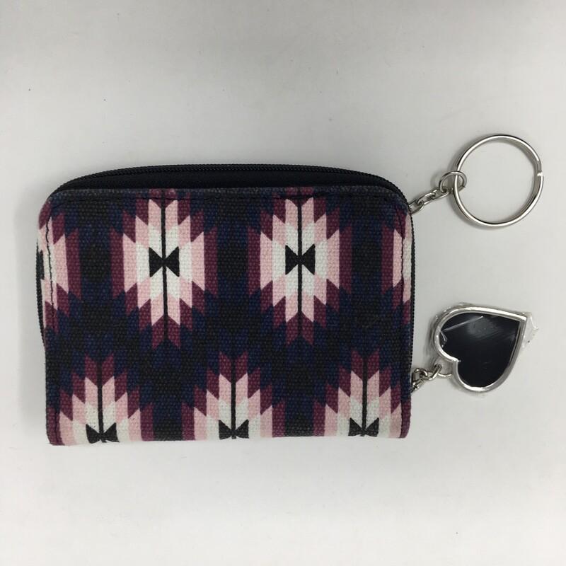 Small Patterned Wallet, Purple
