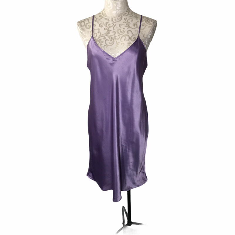 V Neck Silk Slip Dress