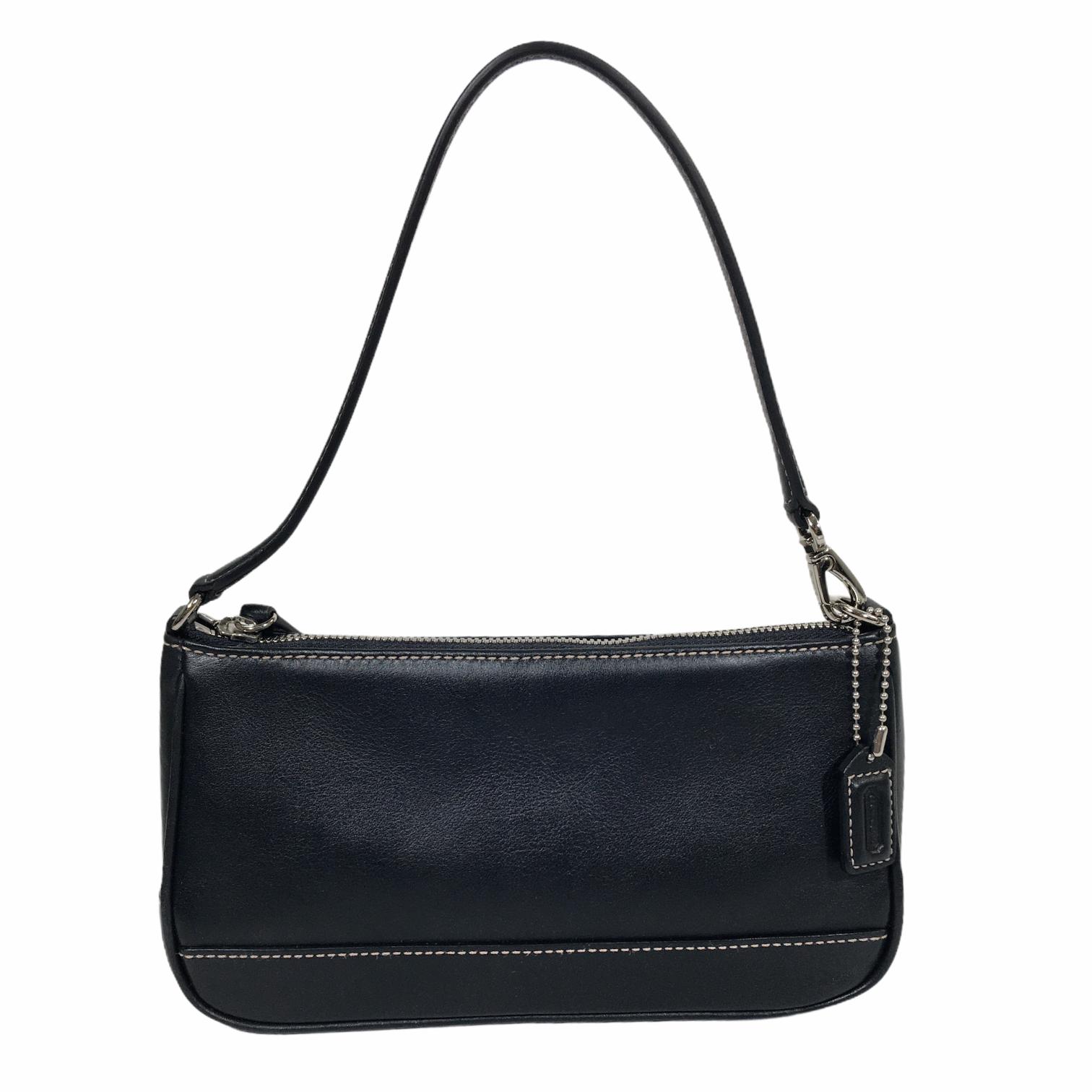 Coach Mini Leather Purse, Black, Size: Designer B