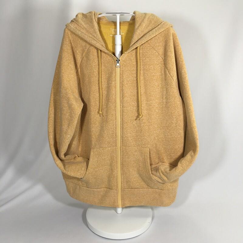 Yellow Zip Up Jacket With